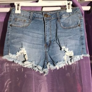 Machine brand jean shorts